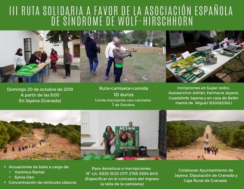III Ruta de Senderismo Solidario en favor de la AESWH - Jayena (Granada)