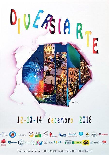 Mercadillo Solidario Diversiarte. 12 al 14 de diciembre de 2018. Plaza Anxo Fernández Gómez - Lugo