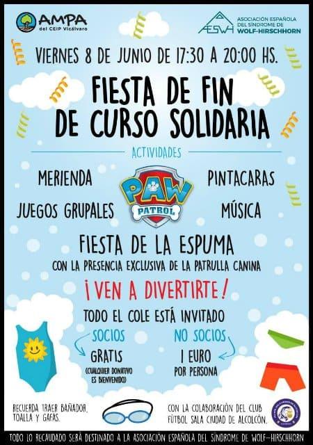 Fiesta Fin Curso Solidaria - Junio 2018