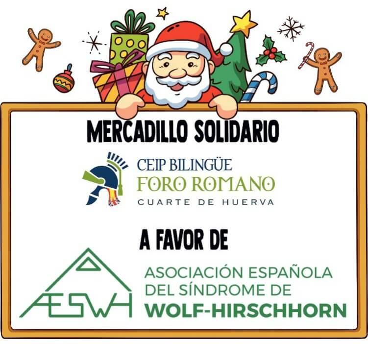 Mercadillo Solidario CEIP Foro Romano en Cuarte De Huerva