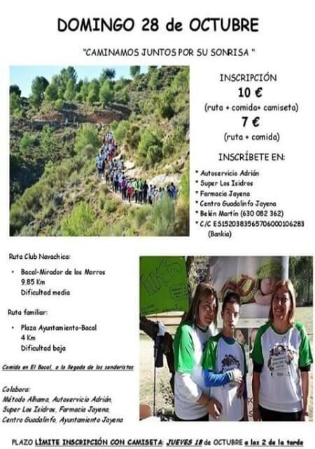 """Ruta Solidaria a favor de la AESWH """"Caminar juntos por su sonrisa"""" - Jayena (Granada) - Oct 2018"""