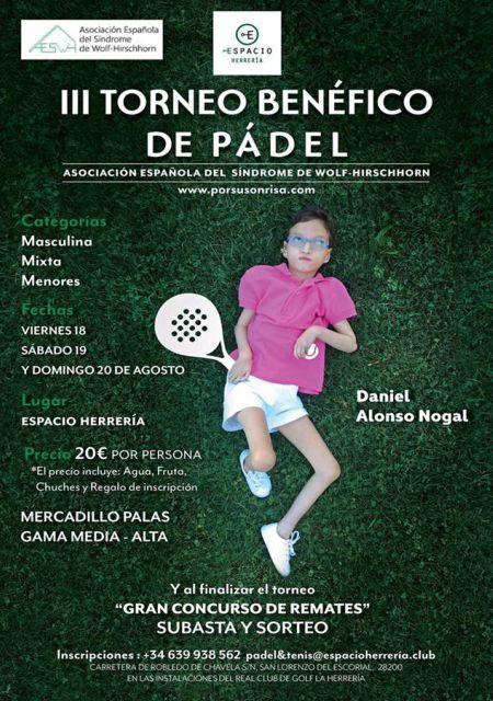 III Torneo Benéfico de Pádel - Agosto 2017