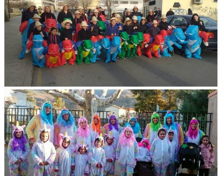 Gesto Solidario tras el carnaval de Navaluenga