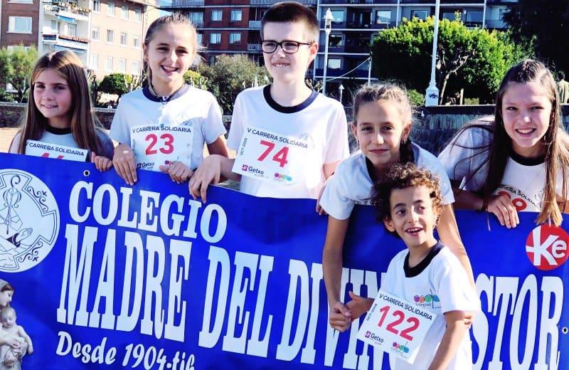 Carrera Solidaria en el colegio Madre del Divino Pastor las Arenas