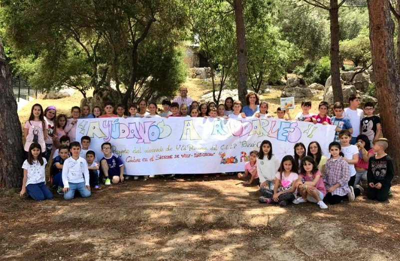 'Ayúdanos a ayudarles', proyecto solidario de ayuda a la AESWH realizado por escolares en Ubrique