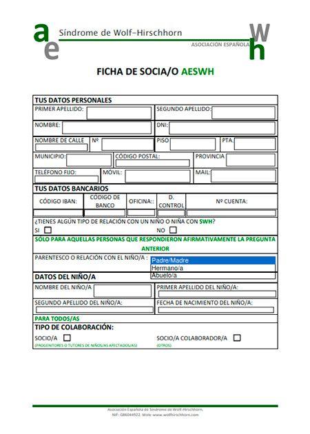 Descargar Ficha Inscripción AESWH