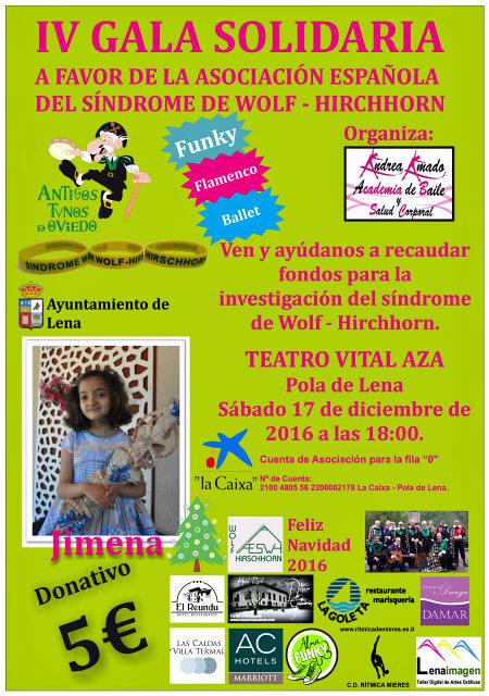 IV Gala Solidaria a favor de la AESWH en Pola de Lena (Asturias)