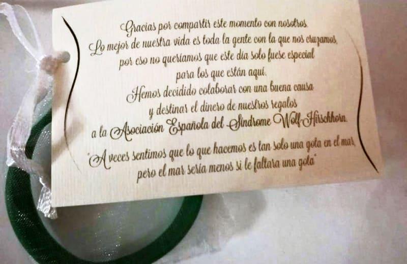 Regalos de boda solidarios