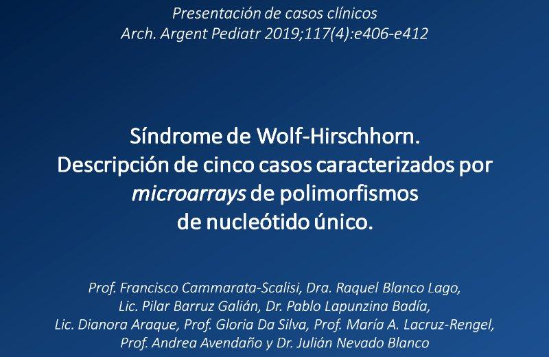 SWH – Descripción de 5 casos caracterizados por microarrays de polimorfismos de nucleótido único