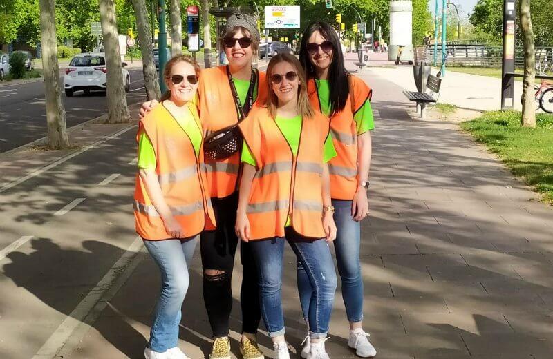 Voluntarios de la AESWH en la Carrera 10k Zaragoza
